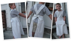 View the white apron
