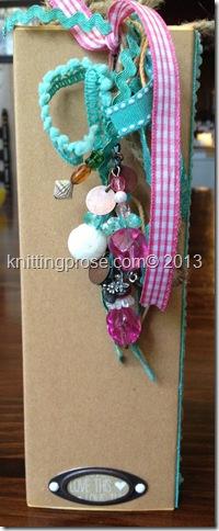 vertical paper bag min album spine