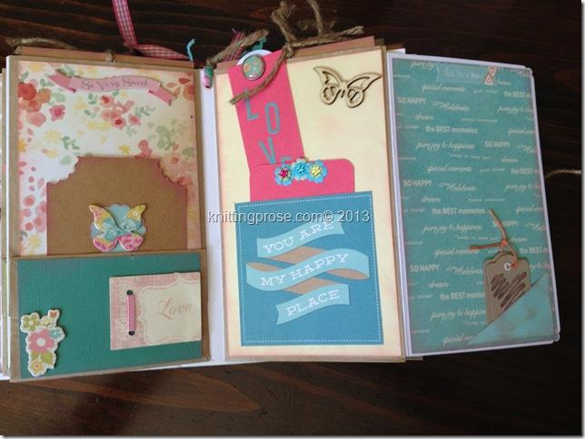 vertical paper bag mini album fold 3