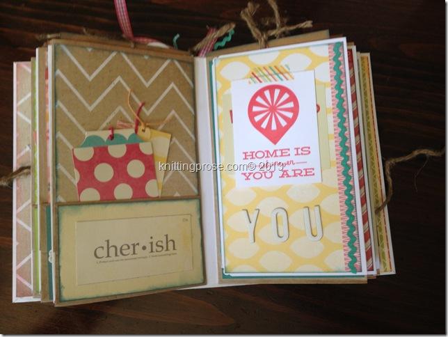 vertical paper bag mini album page 4