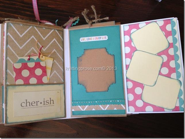 vertical paper bag mini album fold 4