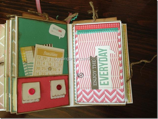 vertical paper bag mini album page 5