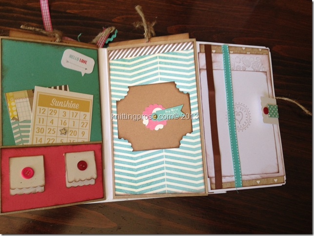 vertical paper bag mini album fold 5