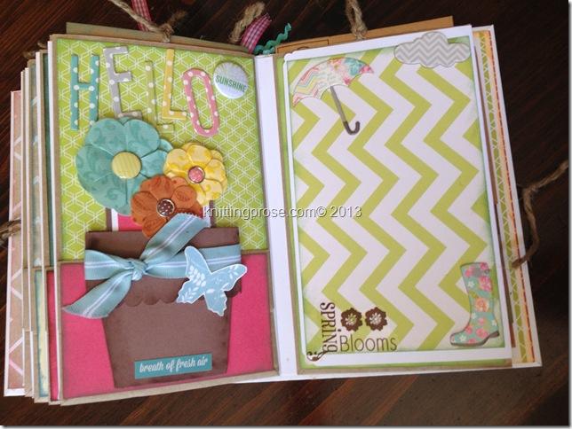 vertical paper bag mini album page 6