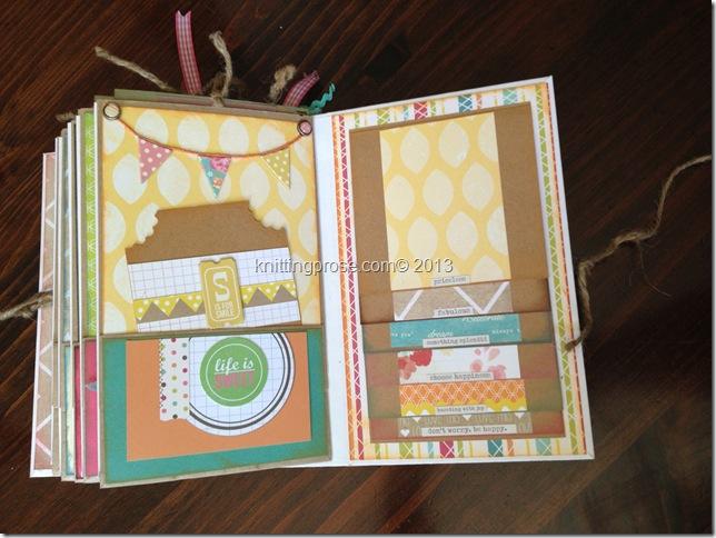 vertical paper bag mini album page 7