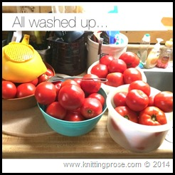 washed tomatoes