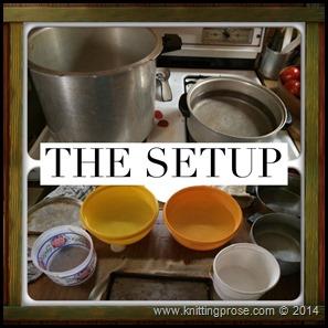 canning tomatoes setup